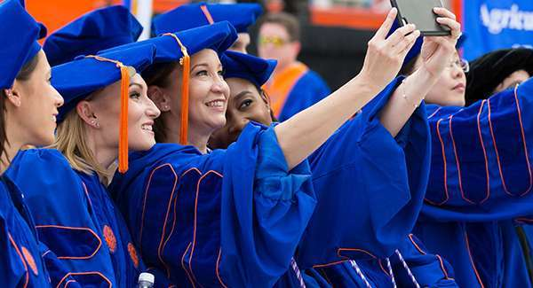 College of Nursing Ph.D. students at graduation