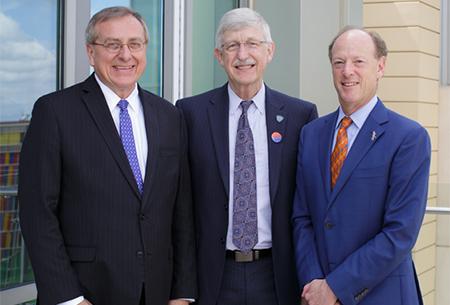 NIH visit Fuchs, Collins, Guzick