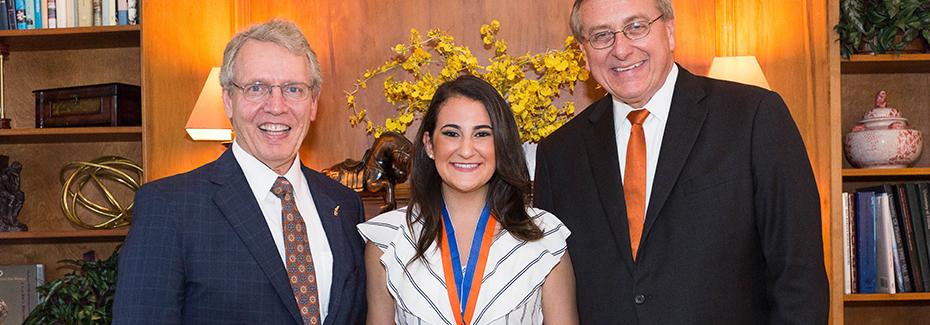 Ilyssa Schatz with Dr. Fuchs