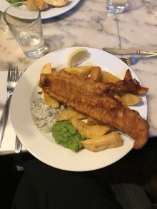 London meal