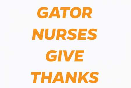 GAtor Nurses Give Thanks